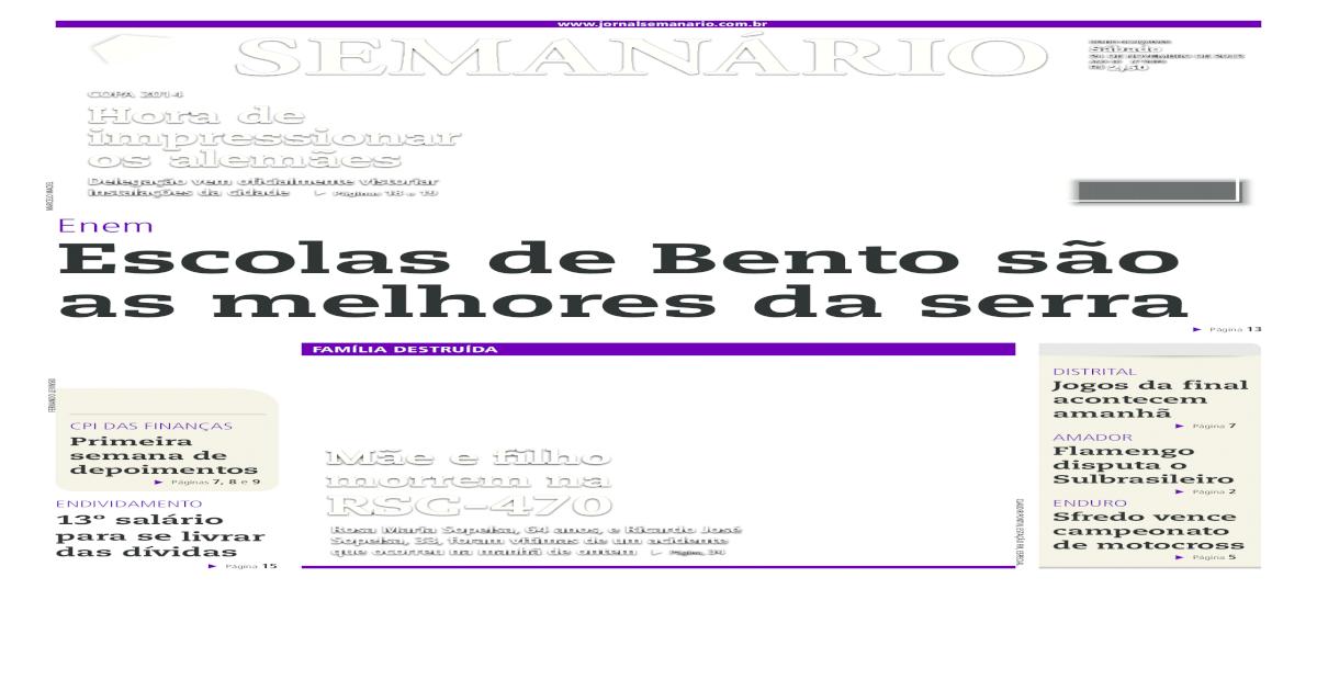 24/11/2012 - Jornal Semanrio