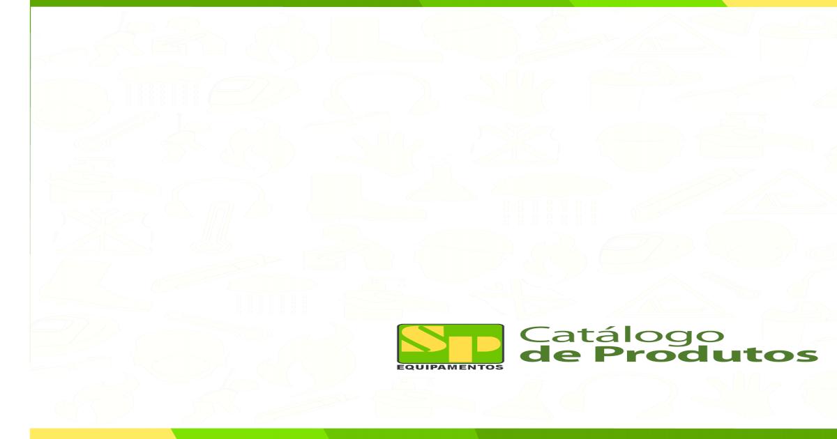 3909d85ee924bf SP Equipamentos - Catlogo Geral