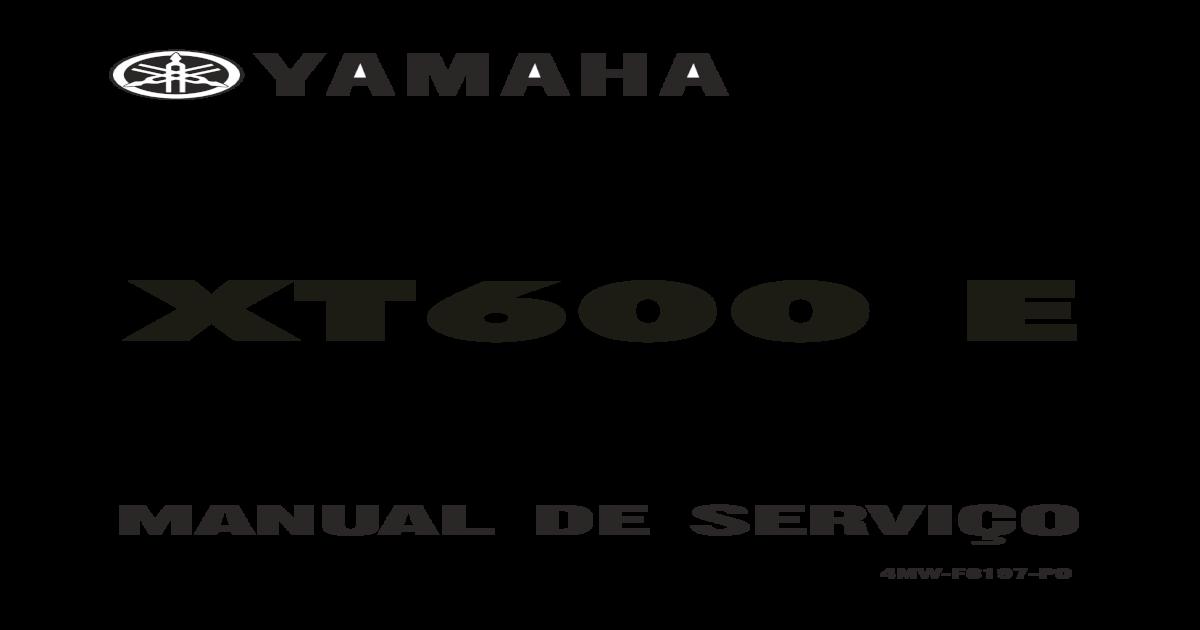 Manual serviço yamaha xt 600 e