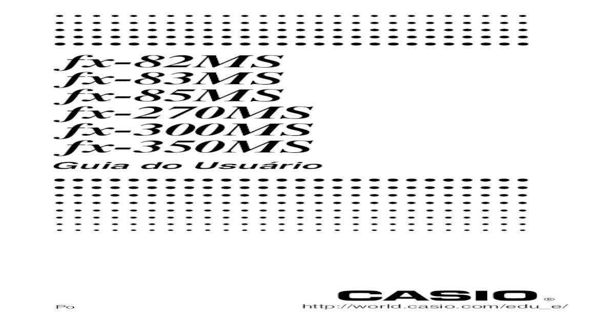 Manual Calculadora Casio Fx-82MS