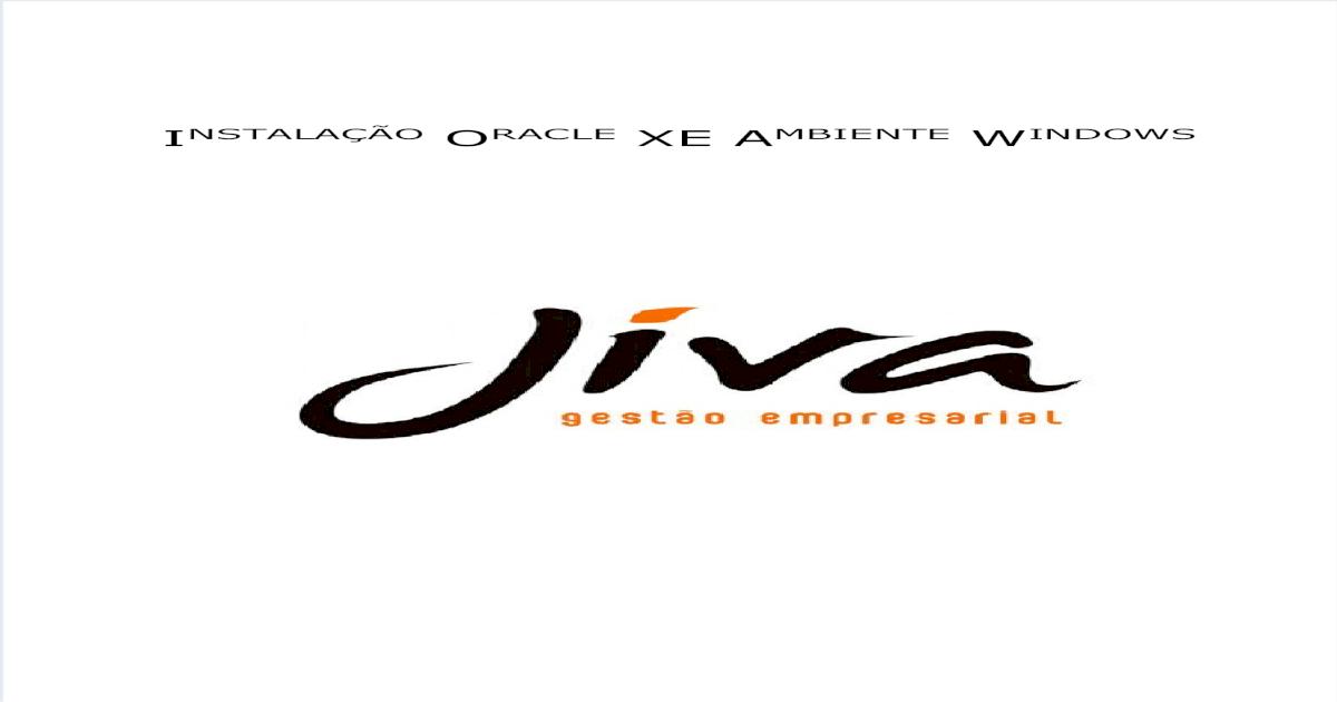 MAN_J_TI Instalação Oracle XE Ambiente Windows